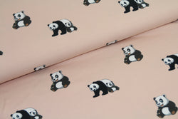End of Roll - 270 cm - Panda - Pink - Cotton Jersey