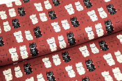 Lucky Cat  - Dobby Cotton Fabric