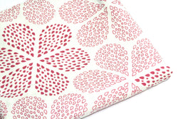 End of Roll - 35 cm - Flower Pink - Organic Cotton Canvas