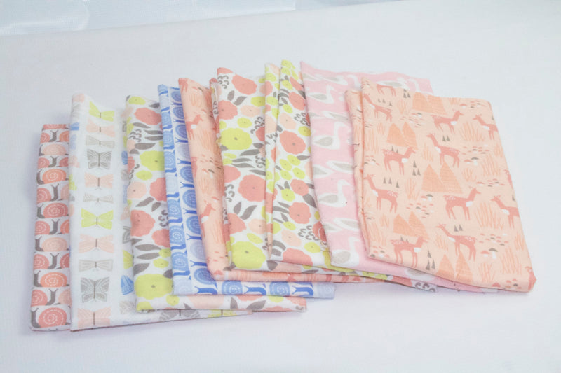 Fat Quarter Bundle -   Organic Cotton Flannel