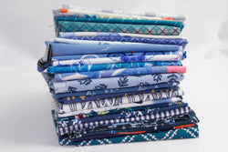 Fat Quarter Bundle - Quilting Cotton - Blue