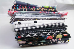 Fat Quarter Bundle - Quilting Cotton - Grey and Black