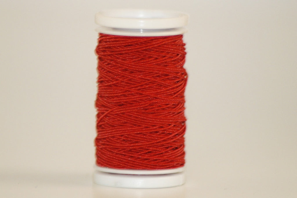 Elastic Sewing Thread / Shirring - Red - O.5mm X 20m