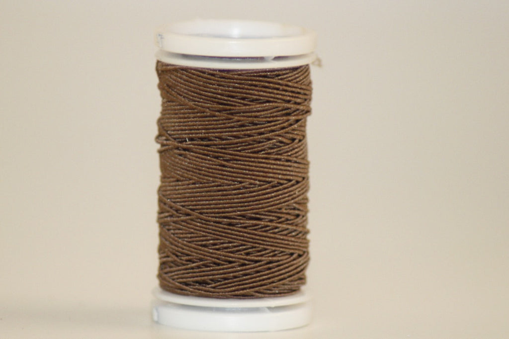 Elastic Sewing Thread / Shirring - Brown - O.5mm X 20m