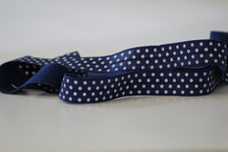Fold Over Elastic 16mm - Spot - Off Dark Blue