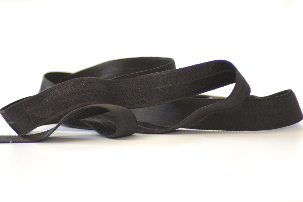 Fold Over Elastic 16mm - Plain - Chocolate