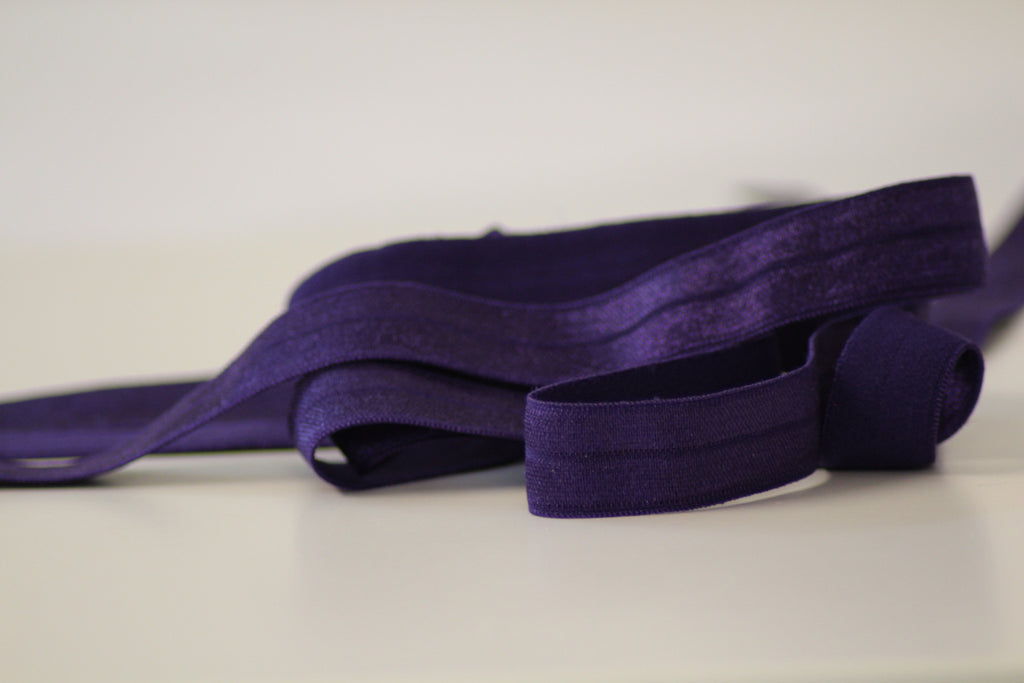 Fold Over Elastic 16mm - Plain - Purple
