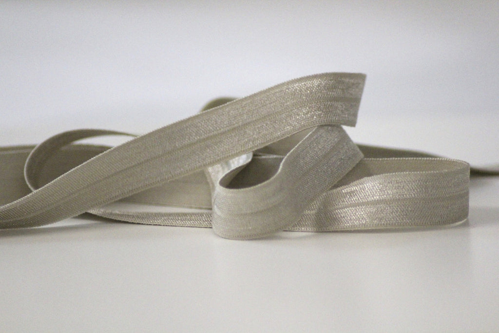 Fold Over Elastic 16mm - Plain - Grey