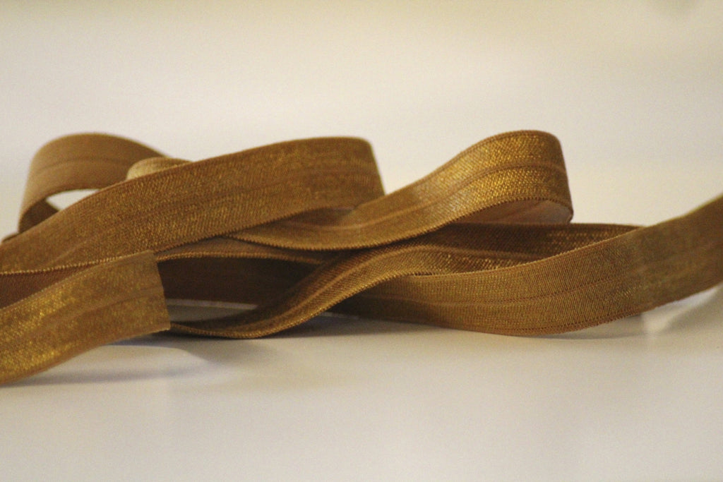 Fold Over Elastic 16mm - Plain - Cognac