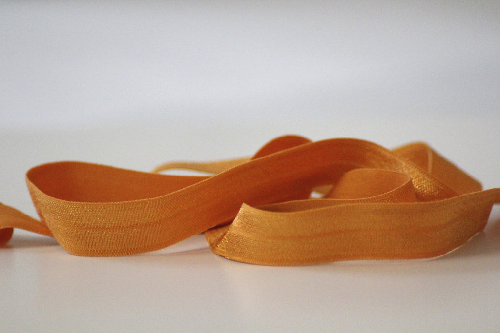 Fold Over Elastic 16mm - Plain - Orange