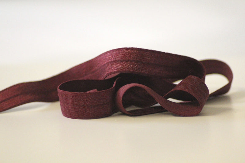 Fold Over Elastic 16mm - Plain - Wine