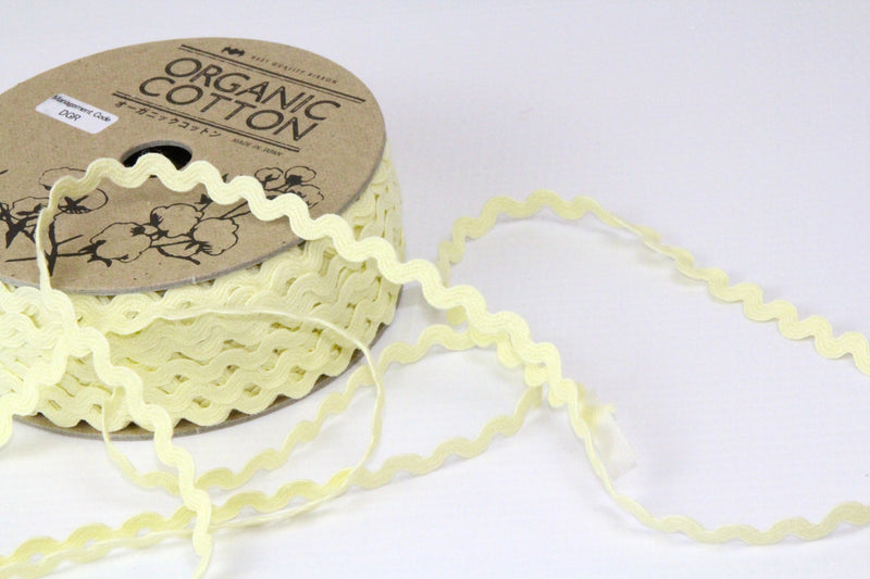 Ric Rac - Organic Cotton - Yellow 5 mm