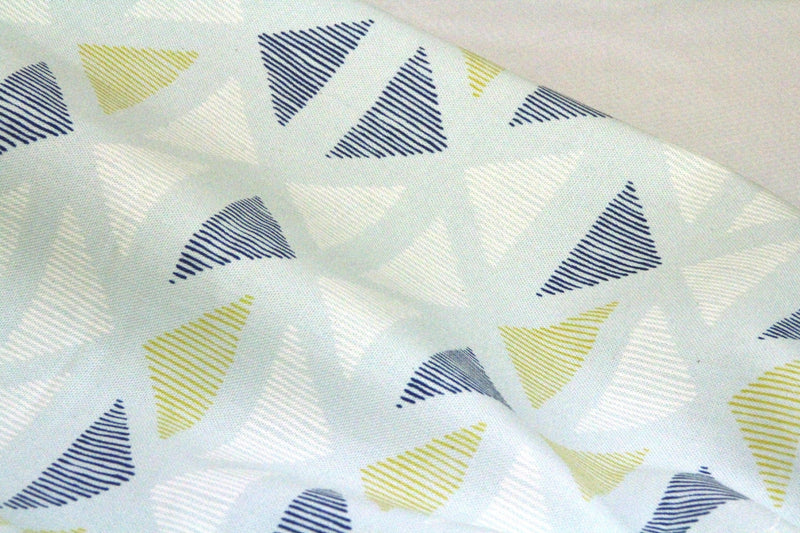 Lines And Shapes Collection - Pen Marks Ice Flow - Organic Cotton Canvas