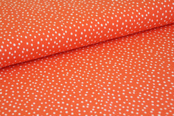 End of Roll - 100 cm - Dots - Red - Organic Cotton Jersey