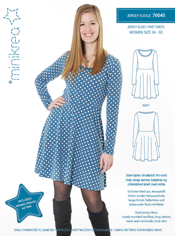 Minikrea - 70045 Knit Dress – paper pattern