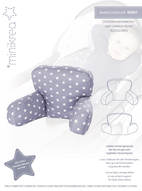 Minikrea - 90901 Baby Carriage Pillow – paper pattern