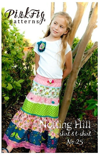 Pink Fig Pattern - Notting Hill Skirt Pattern