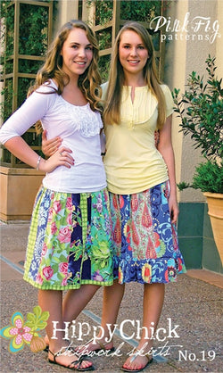 Pink Fig Pattern - The Hippy Chick Skirt Pattern