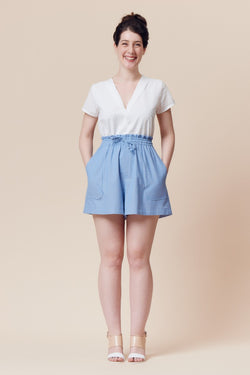 Deer And Doe Pattern - Goji Short / Skirt