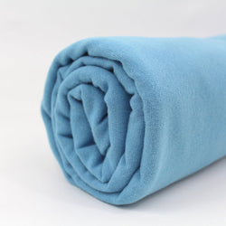 End of roll - 230cm - Light Blue - Organic Cotton Ribbing