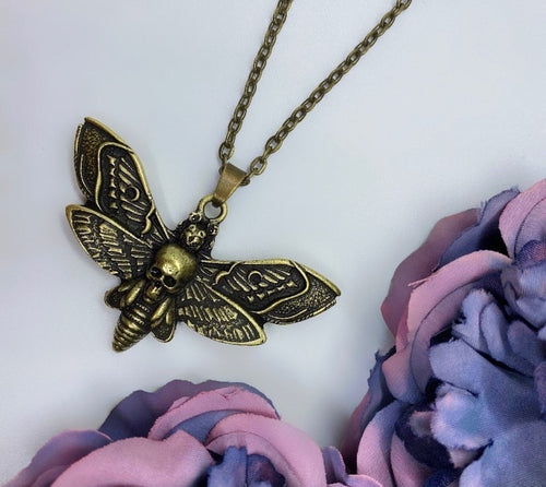 Death Moth Necklace - Happy Emo