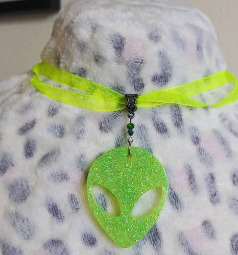 Neon Alien Choker - Happy Emo
