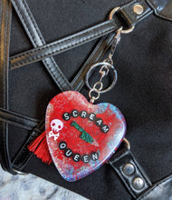 Load image into Gallery viewer, Scream Queen Holographic Keyring / Bag Charm - Happy Emo