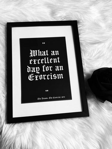 The Exorcist A5 Quote Print - Happy Emo