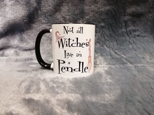Not All Witches Live In Pendle Mug - Happy Emo