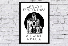 Load image into Gallery viewer, Addams Family Spooky House Print - Happy Emo