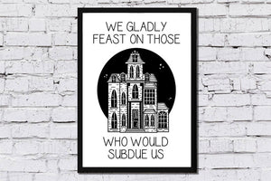 Addams Family Spooky House Print - Happy Emo