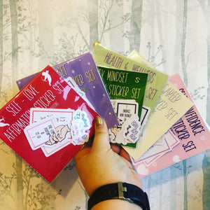 Affirmation Sticker Packs - Happy Emo