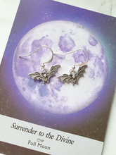 Load image into Gallery viewer, Silver Bat Charm Earrings - Happy Emo