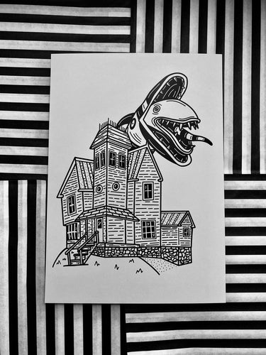 Beetlejuice - Maitlands House Print - Happy Emo