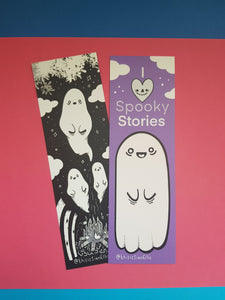 Campfire Ghost Stories Bookmark - Happy Emo