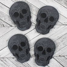 Load image into Gallery viewer, Set Of 4 Skull Coasters - Happy Emo