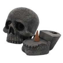 Load image into Gallery viewer, Skull Incense Cone Holder - Happy Emo