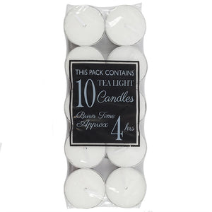 Pack of 10 4 Hour Burn Tealights