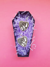 Load image into Gallery viewer, Cute Haunted Ouija Planchette Earrings - Happy Emo
