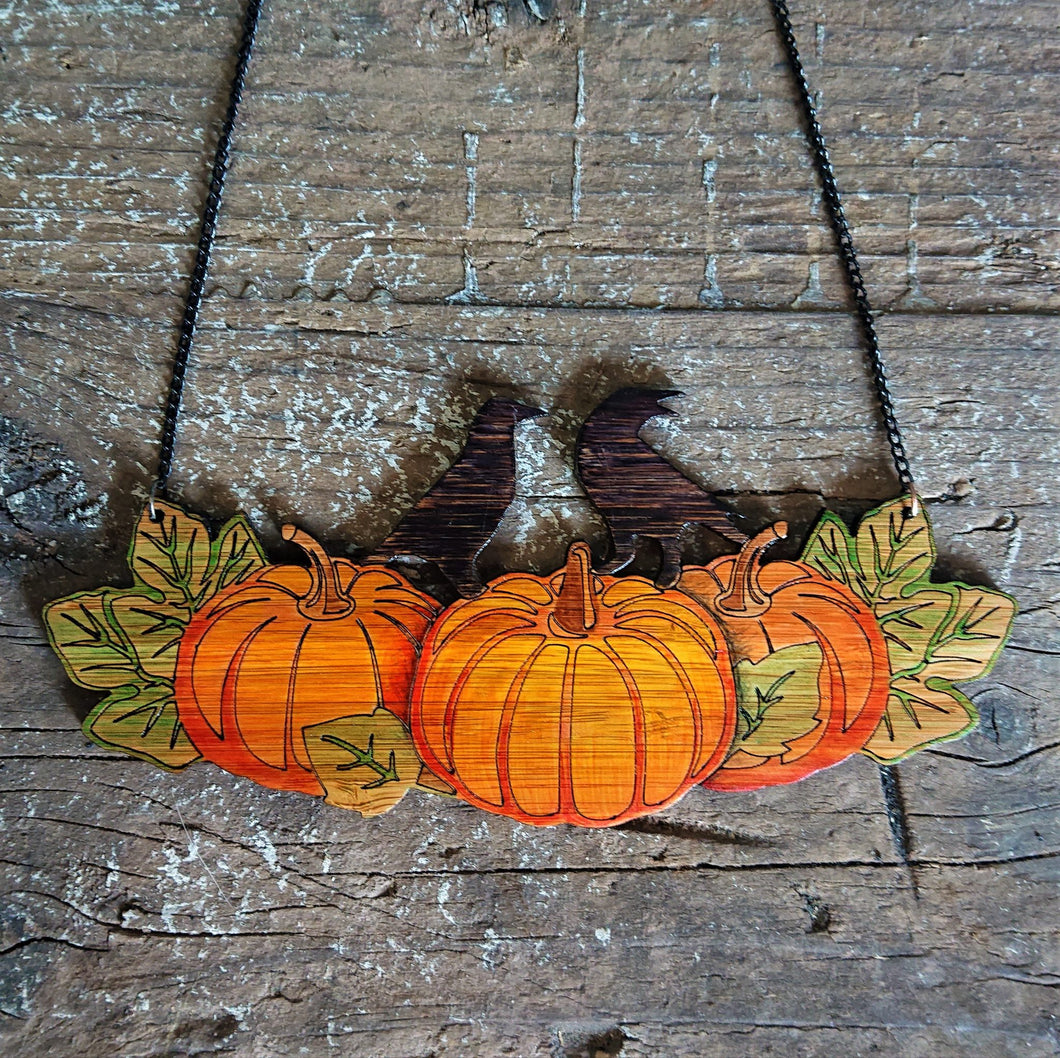 Pumpkin Patch Necklace in Eco-Friendly Bamboo