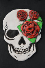Load image into Gallery viewer, 3D Skull Wall Art Plaque - Happy Emo