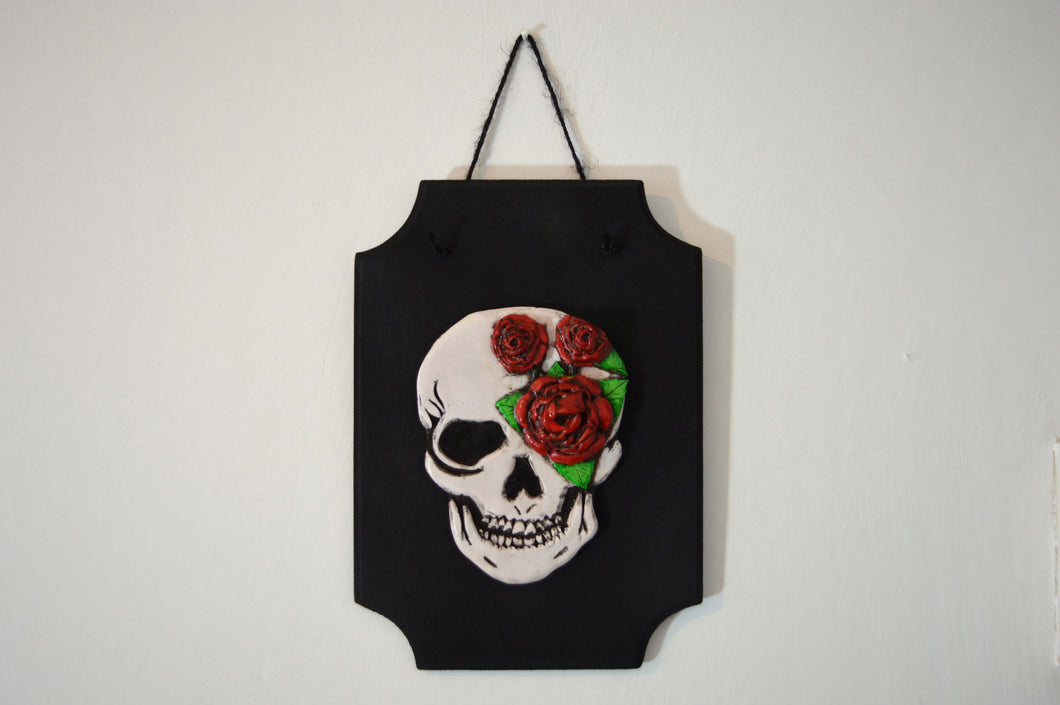 3D Skull Wall Art Plaque - Happy Emo