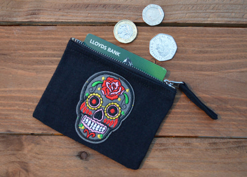Sugar Skull Coin Purse - Happy Emo