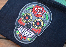 Load image into Gallery viewer, Sugar Skull Coin Purse - Happy Emo