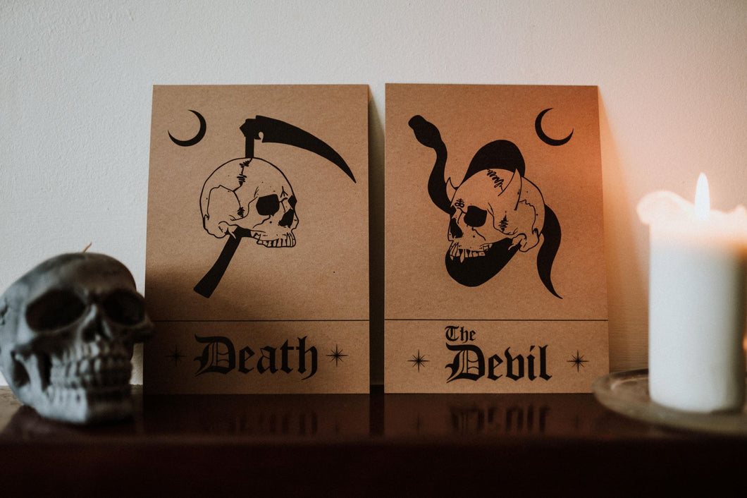 Limited Edition Death & The Devil A5 Print Set