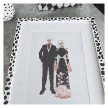 Load image into Gallery viewer, Personalised Gothic Couple Portrait - Happy Emo