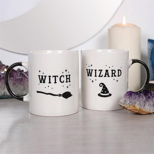Witch and Wizard Mug Set - Happy Emo