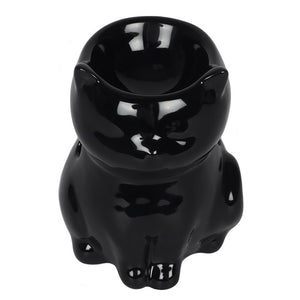 Black Cat Oil Burner - Happy Emo