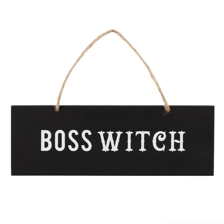 Boss Witch Wall Sign - Happy Emo