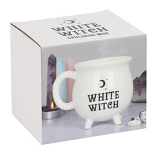Load image into Gallery viewer, White Witch Cauldron Mug - Happy Emo